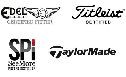 Edel Golf Certified Fitter, Titleist Certified, See More Putter Institute, Cobra Certified Clubfitting Center